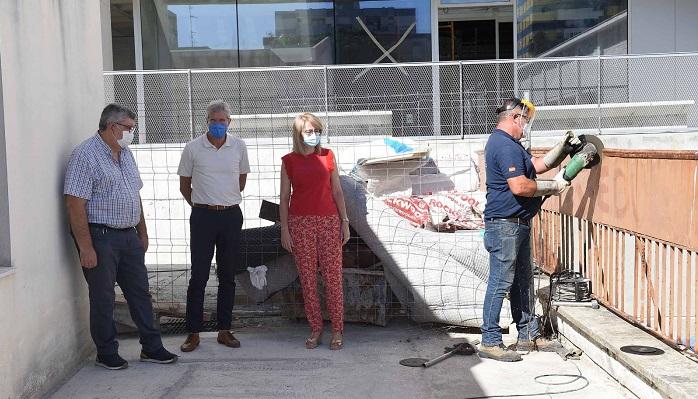 Las obras de la 'Sánchez Verdú' estarán listas para el inicio del curso