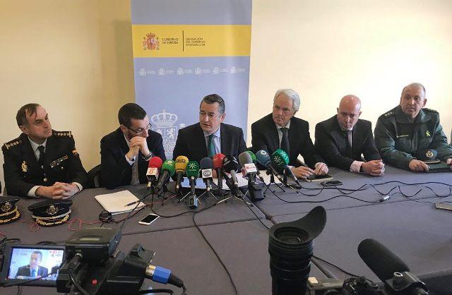 Antonio Sanz ha comparecido ante los medios en La Línea