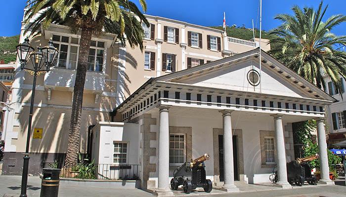 Edificio del gobierno de Gibraltar en el 6 de Convent Place