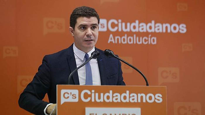 Sergio Romero, portavoz adjunto de Ciudadanos, en una imagen de archivo
