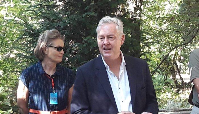 El embajador del Reino Unido en España, Simon Manley, en un acto reciente