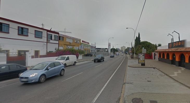 Un tramo de la calle Real de Campamento que cambiará de nombre