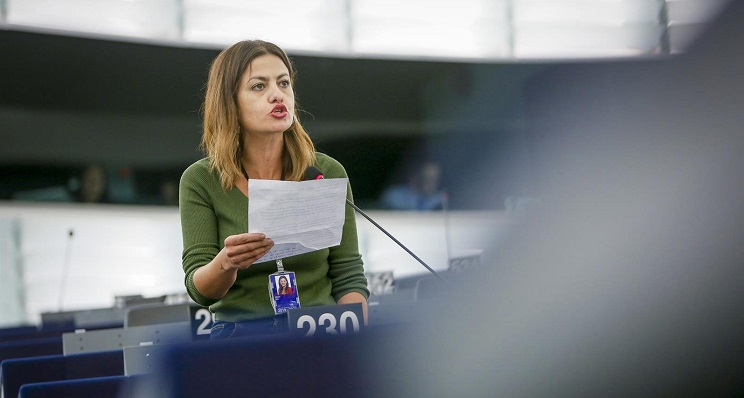Sira Rego, eurodiputada de Izquierda Unida por Unidas Podemos