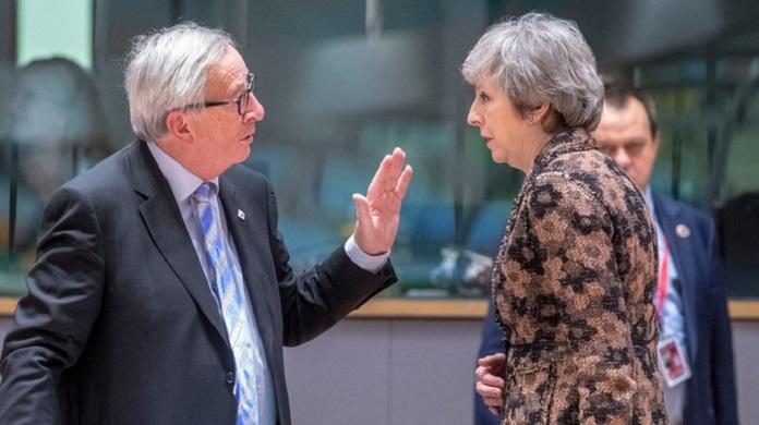 Juncker y May volvieron a reunirse este jueves en Bruselas