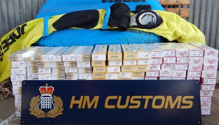 Tabaco intervenido por el Servicio de Aduanas de Gibraltar