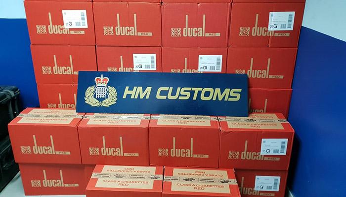 Tabaco incautado por el servicio de Aduanas de Gibraltar en esta actuación