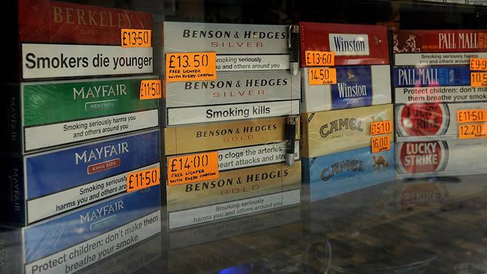 Venta de tabaco en Gibraltar