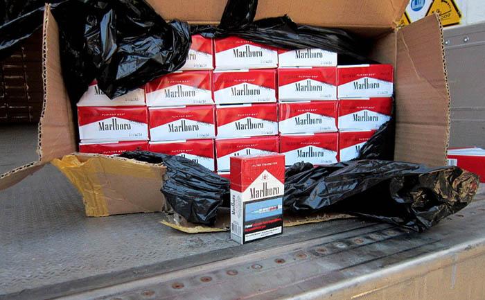 Una de las incautaciones de tabaco en Gibraltar