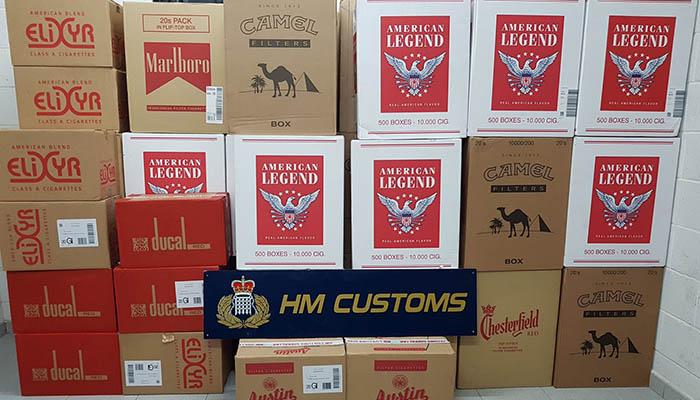 Tabaco incautado por los agentes de Aduanas de Gibraltar