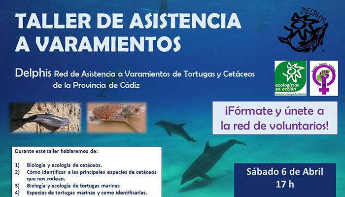 Cartel anunciador del taller de Verdemar en San Roque