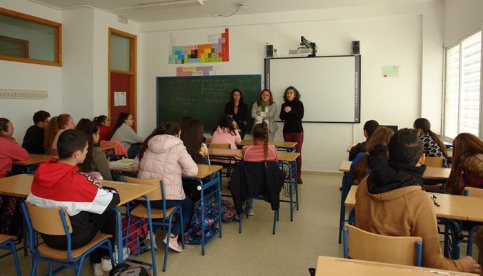 Los alumnos a los que ha ido dirigido el taller en el IES Mar del Sur