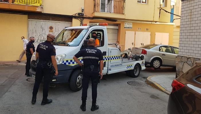 Un momento de la intervención policial