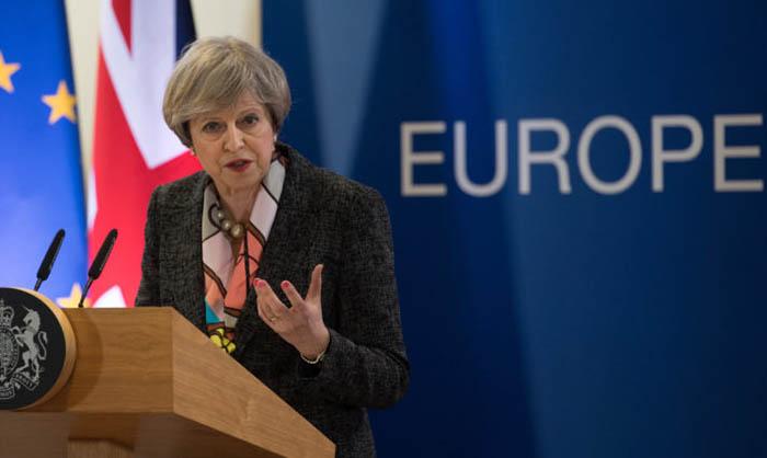 Theresa May Consejo Europa Bruselas 2017