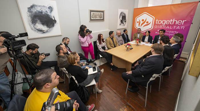 Rueda de prensa en la sede de Together Gibraltar