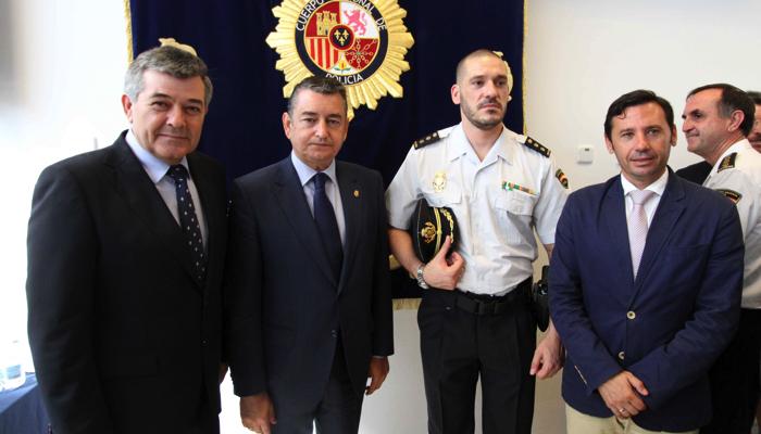 Luis Esteban, el día de su toma de posesión como Comisario de Algeciras