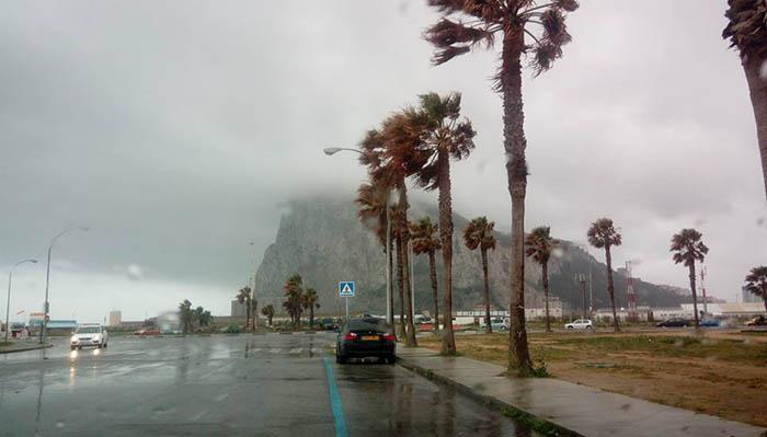 Tormenta sobre el Campo de Gibraltar