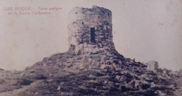 Antigua postal de la desaparecida torre de Sierra Carbonera