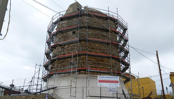 La torre de Torreguadiaro, en San Roque, está siendo restaurada