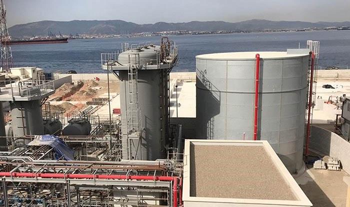 Imagen de archivo de las nuevas instalaciones de gas licuado en Gibraltar