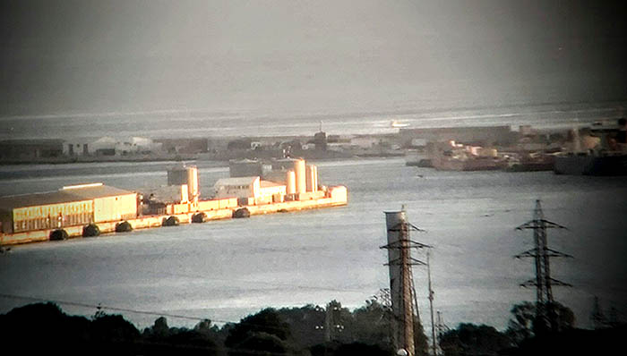 El USS Florida en el muelle gibraltareño, en una imagen facilitada por Verdemar