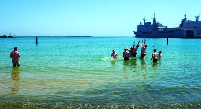 Los marineros del 'USS Indiana' pudieron utilizar las instalaciones de la base. Foto US Navy/Nelson Velásquez