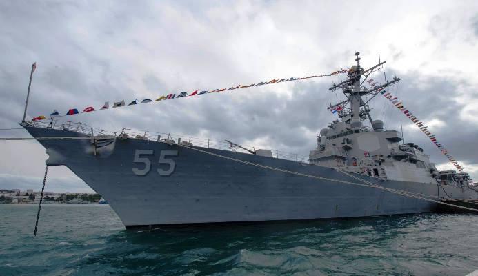 El 'USS Stout' amarrado a puerto. Foto US Navy