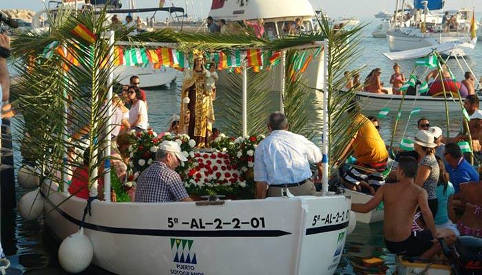 Imagen de archivo de la celebración de la Virgen del Carmen en Torreguadiaro