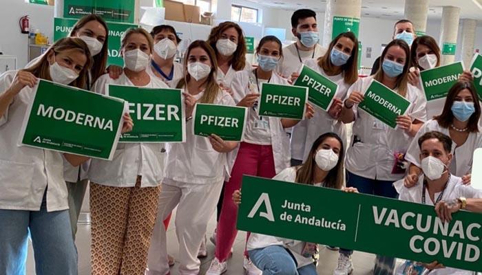 Personal sanitario que ha participado en la vacunación en esta área sanitaria.