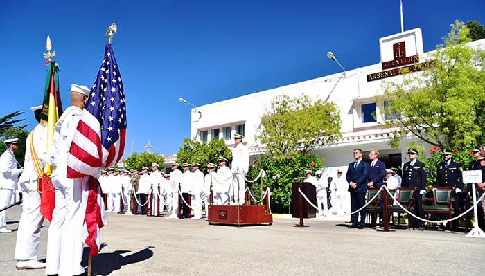 Un momento del acto, esta mañana, en la Base Naval de Rota. Foto Cuartel General de la Flota