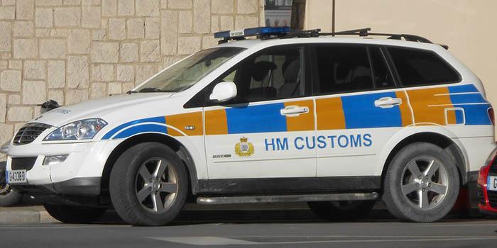 Vehículo del Servicio de Aduanas de Gibraltar