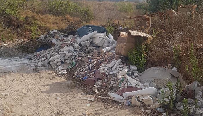 Imagen del punto de vertido de residuos denunciado por Verdemar