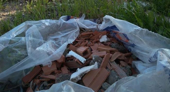 Imagen de los escombros en Guadarranque