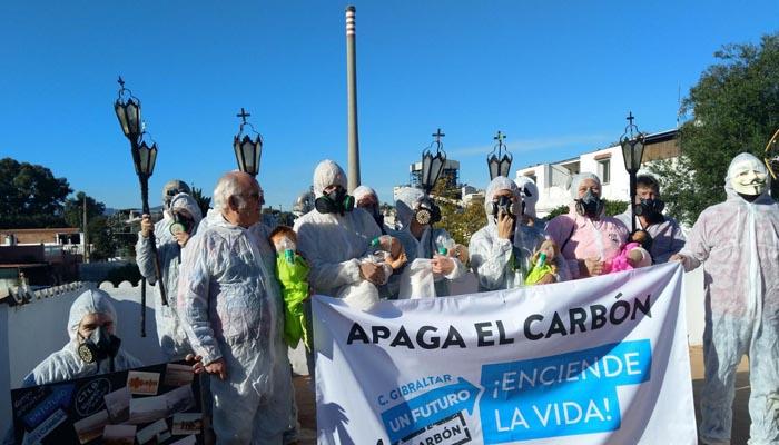 Imagen de una protesta pidiendo la desaparición del carbón. Foto Verdemar
