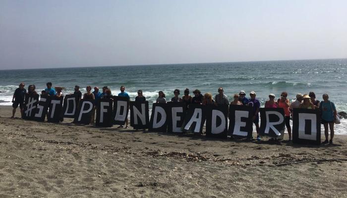 Imagen de la protesta de Verdemar Ecologistas en Acción