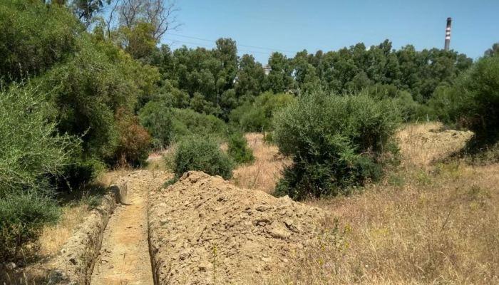 Lugar donde Verdemar declara haber localizado los restos arqueológicos