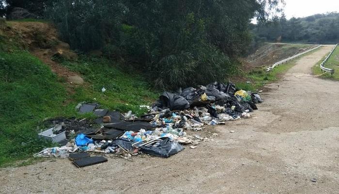 Este es el vertedero denunciado por los ecologistas de Verdemar en Los Barrios