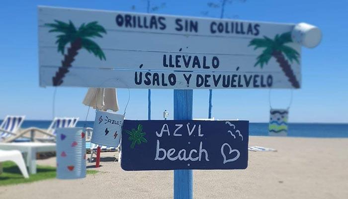 El Azul Beach Club de La Línea se une a la campaña de Verdemar
