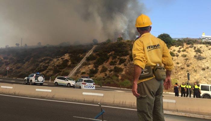 Imagen de archivo de un incendio en el Campo de Gibraltar