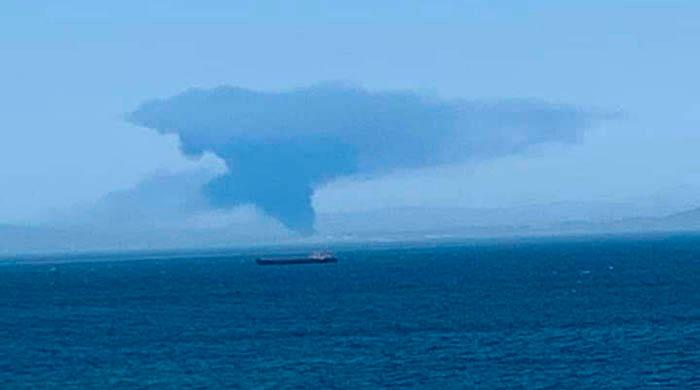 El humo del incendio de San Roque, visto desde Ceuta