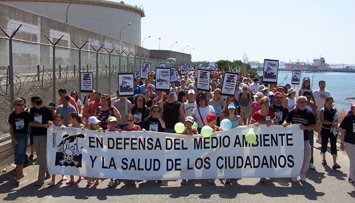 Manifestación en defensa del medio ambiente