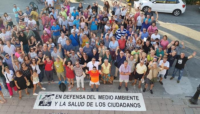 Concentración de protesta junto al Corredor Verde