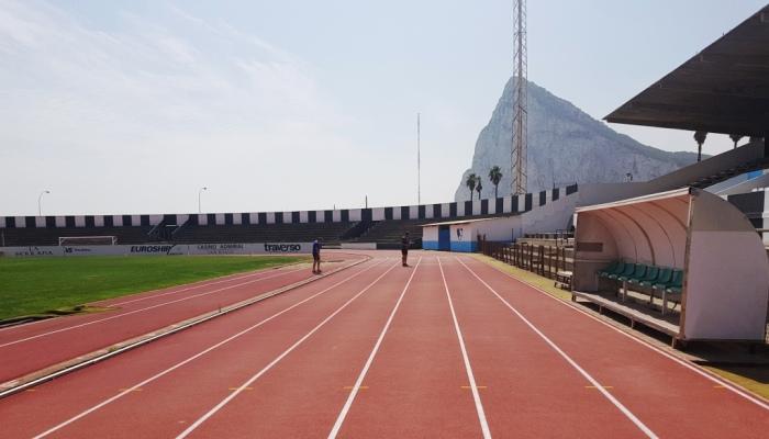 Imagen parcial del Estadio Municipal de La Línea