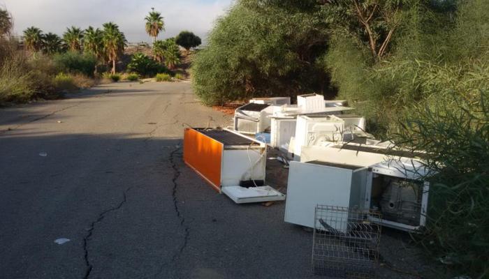 Imagen del vertedero denunciado por Verdemar en Algeciras