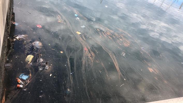 Una imagen del vertido difundida por Verdemar. Foto: NG