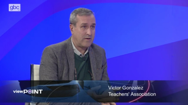 El presidente de la asociación de profesores, Víctor González, en imagen de la GBC