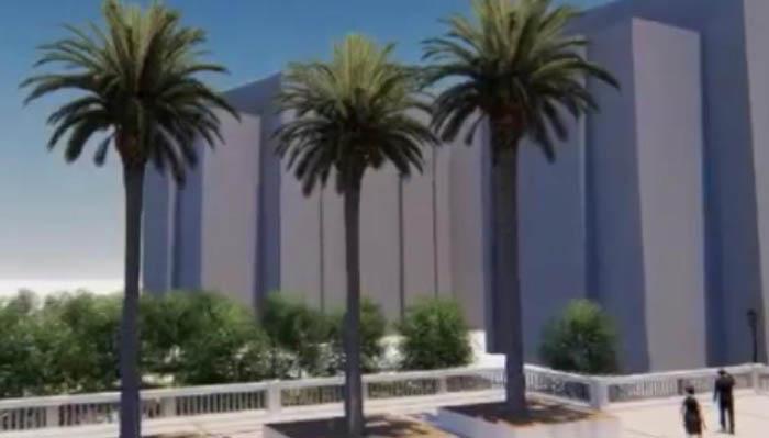 Una de las imágenes del vídeo de Line Wall Road