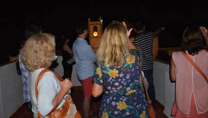 Una de las imágenes de la visita nocturna