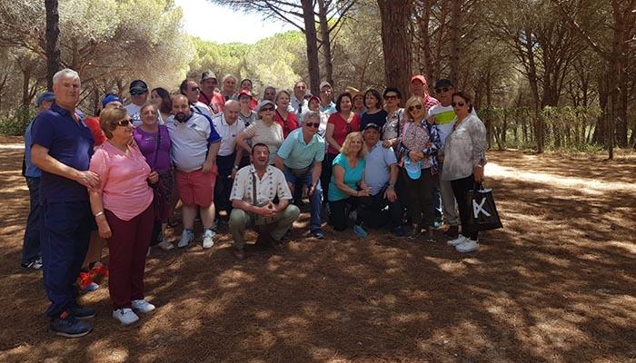 Los asistentes a la jornada en el Pinar del Rey de San Roque