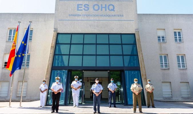 Momento de la visita del JEMAD al ES-OHQ en la base de Rota. Foto EMAD