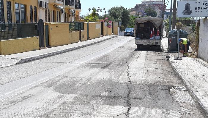 Arrancan las obras de asfaltado en la avenida Victoria Eugenia de Algeciras